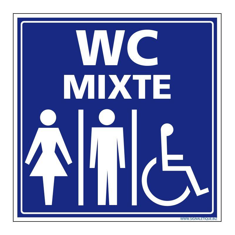 Signalisation accueil du public - WC mixte
