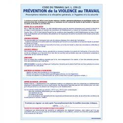 Signalisation affichage obligatoire en entreprise - Affichage de prévention de la violence au travail