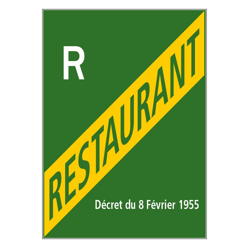 Signalisation hôtel restaurant camping - Licence restaurant