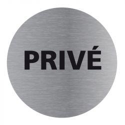 Signalisation plaque de porte aluminium brossé - Plate-up privé