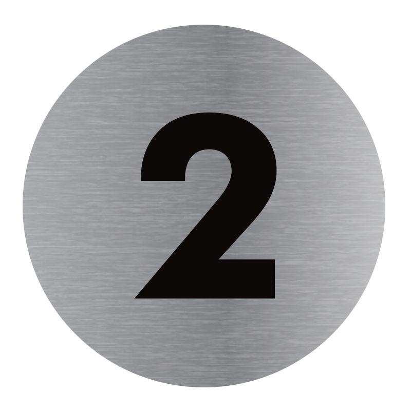 Signalisation plaque de porte aluminium brossé - Plate-up 2