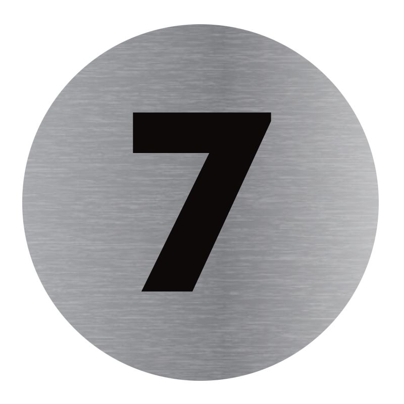 Signalisation plaque de porte aluminium brossé - Plate-up 7