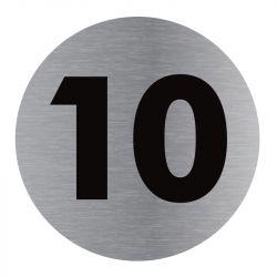 Signalisation plaque de porte aluminium brossé - Plate-up 10