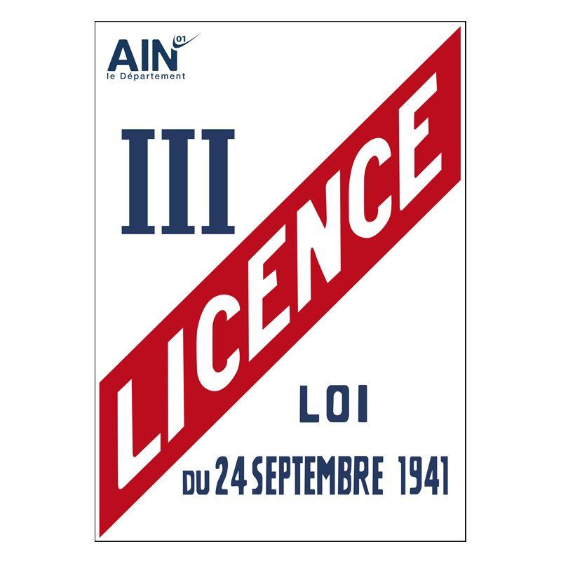 Signalisation hôtel restaurant camping - Licence III avec le logo de votre département