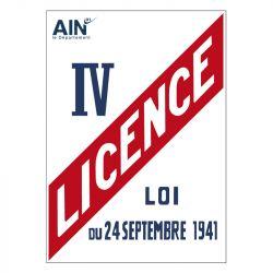 Signalisation hôtel restaurant camping - Licence IV avec le logo de votre département