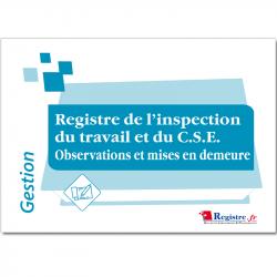 REGISTRE DE L'INSPECTION DU...