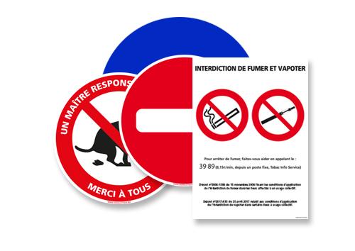 Signalisation interdiction