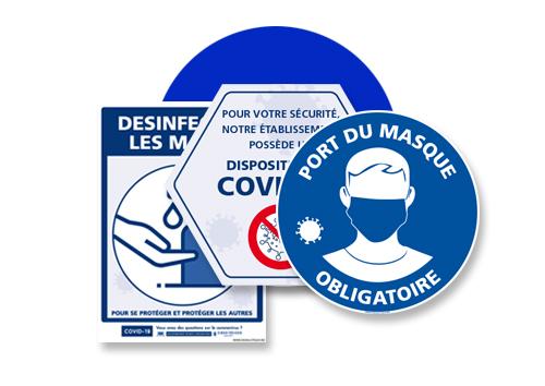 Signalisation prévention covid